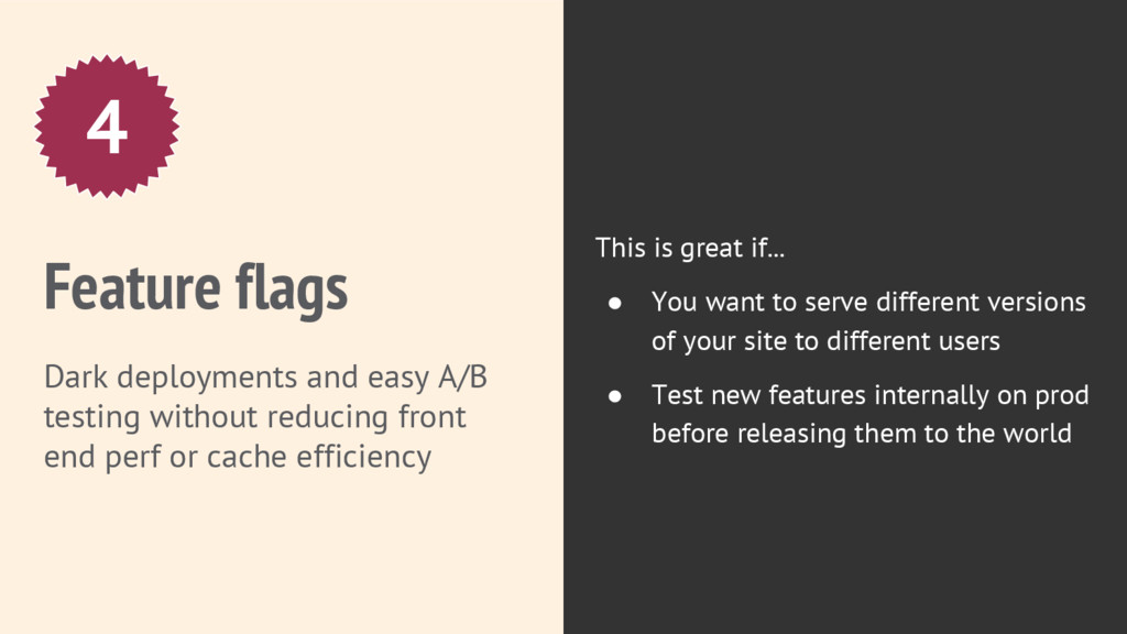 Feature flags Dark deployments and easy A/B tes...