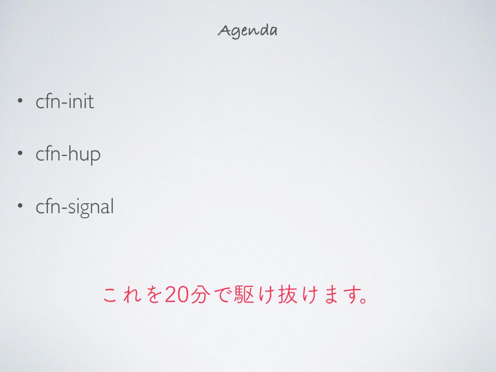 • cfn-init • cfn-hup • cfn-signal Agenda ͜ΕΛ...