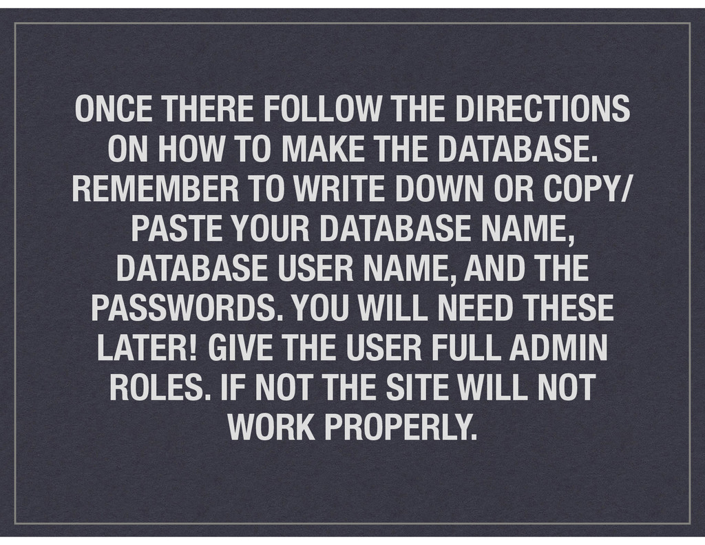 ONCE THERE FOLLOW THE DIRECTIONS ON HOW TO MAKE...