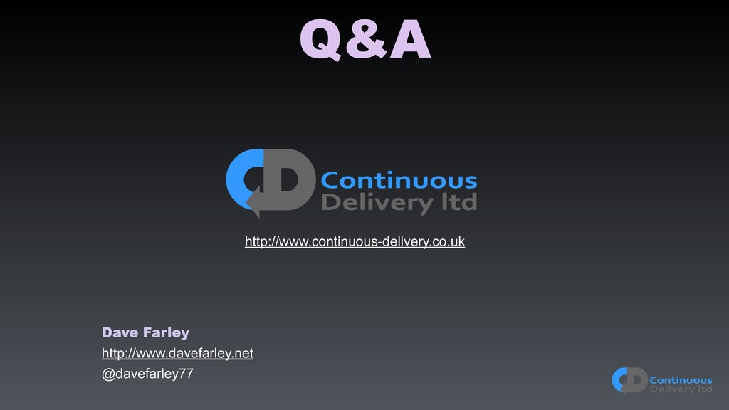 Q&A http://www.continuous-delivery.co.uk Dave F...