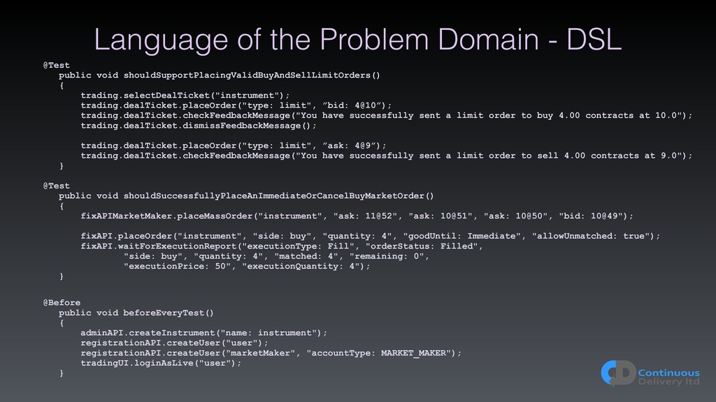 Language of the Problem Domain - DSL @Test publ...