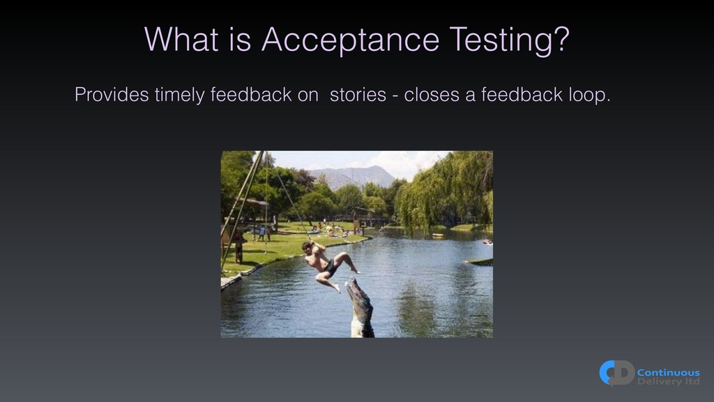 What is Acceptance Testing? Provides timely fee...