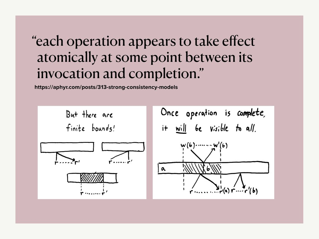 """""""each operation appears to take e ff ect atomic..."""
