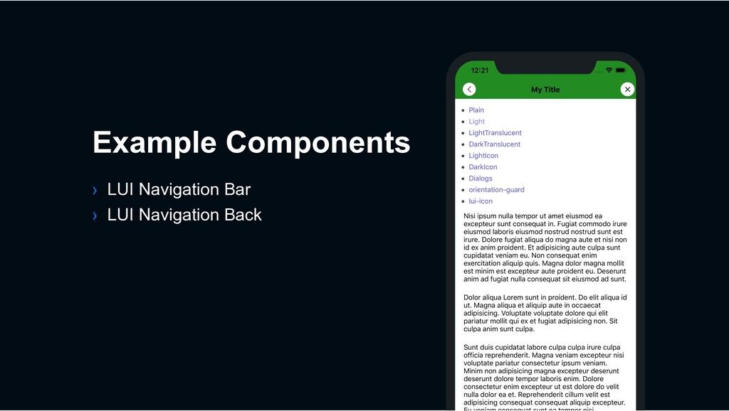 › LUI Navigation Bar › LUI Navigation Back Exam...