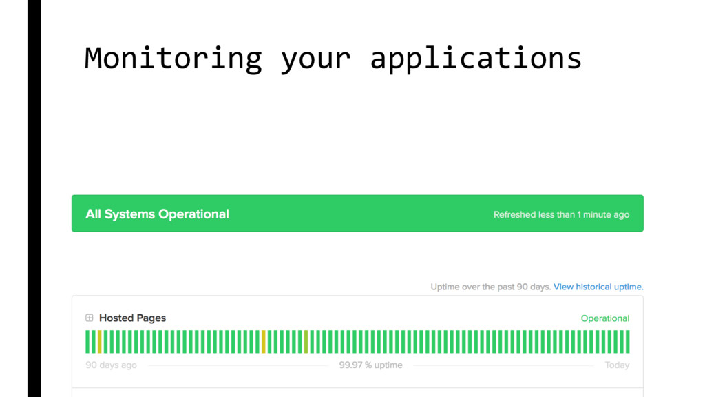 Monitoring your applications