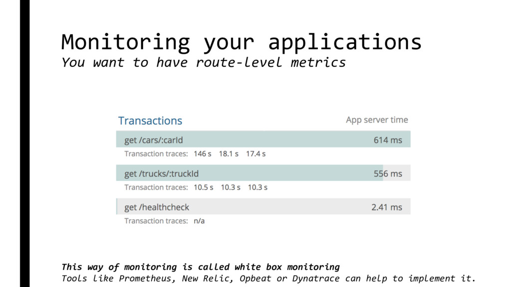 Monitoring your applications You want to have r...