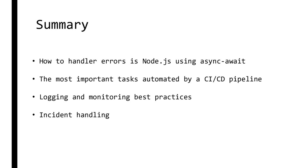 Summary • How to handler errors is Node.js usin...