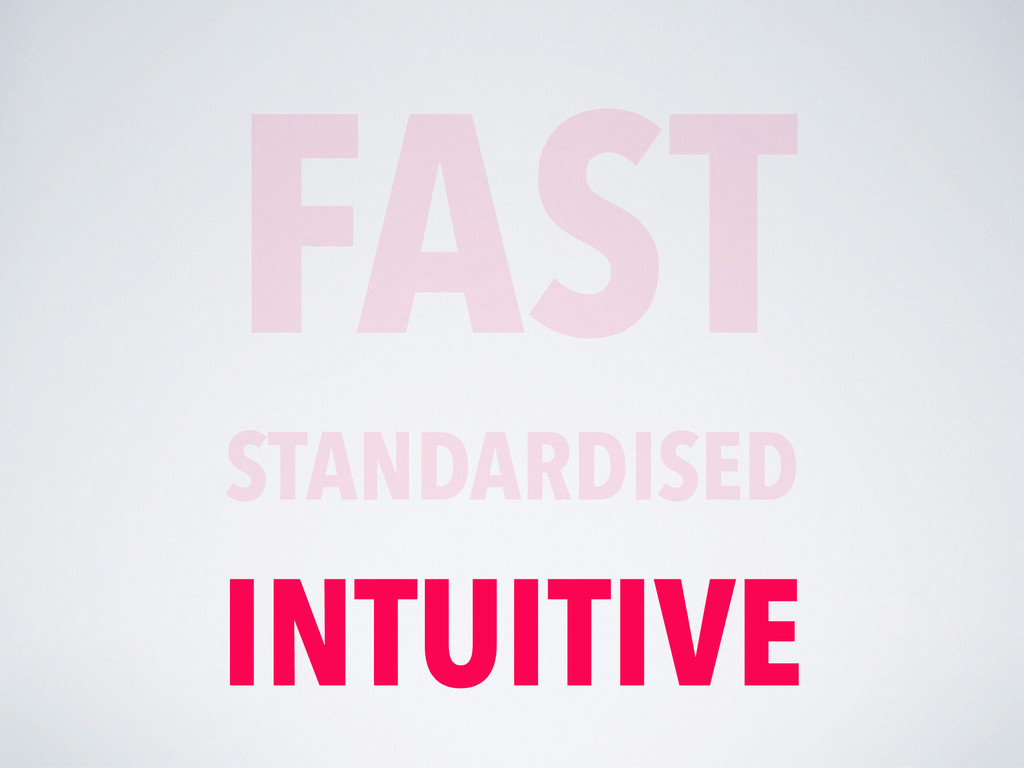 FAST STANDARDISED INTUITIVE