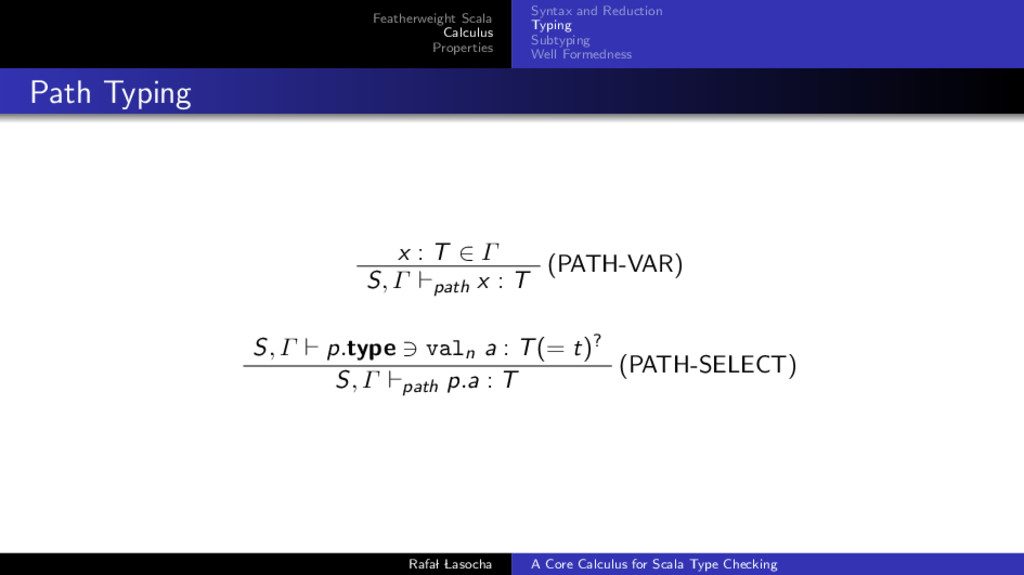 Featherweight Scala Calculus Properties Syntax ...