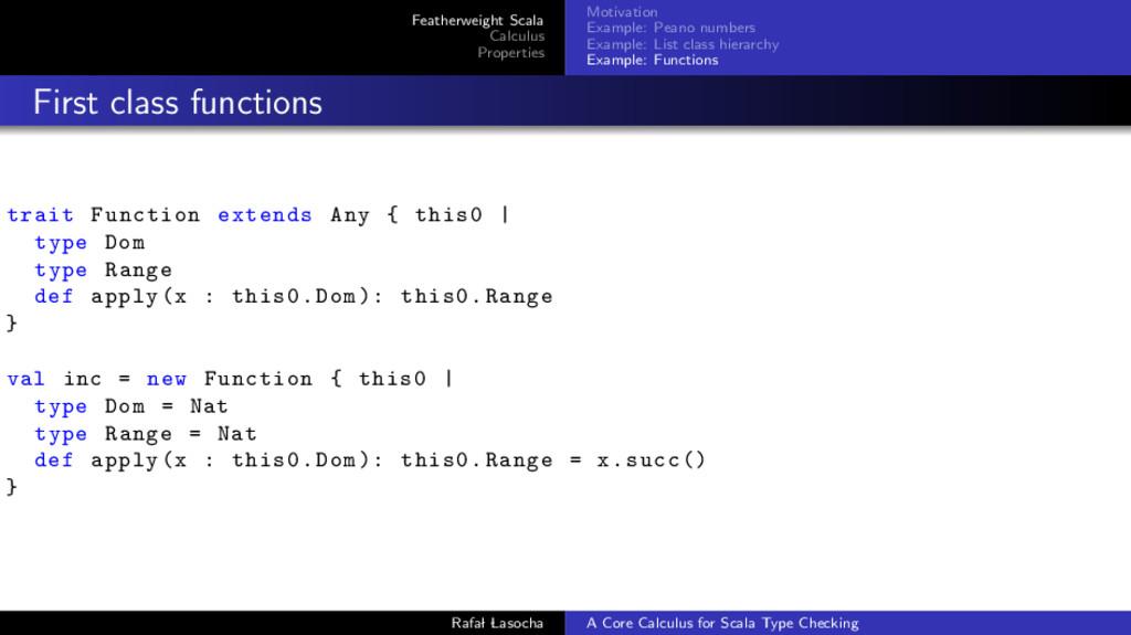 Featherweight Scala Calculus Properties Motivat...