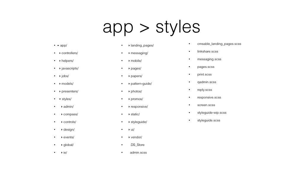 app > styles • ▾ app/ • ▸ controllers/ • ▸ help...