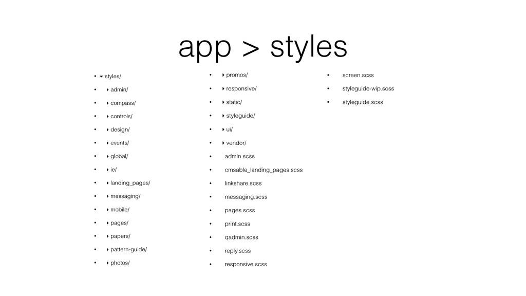 app > styles • ▾ styles/ • ▸ admin/ • ▸ compass...