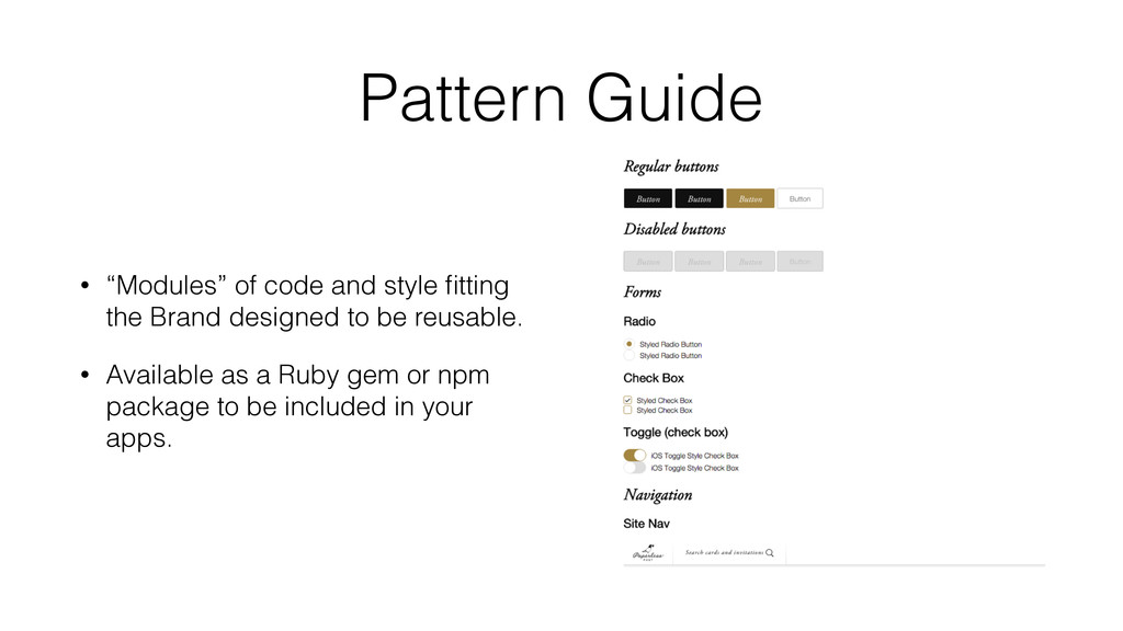"""Pattern Guide • """"Modules"""" of code and style fitt..."""