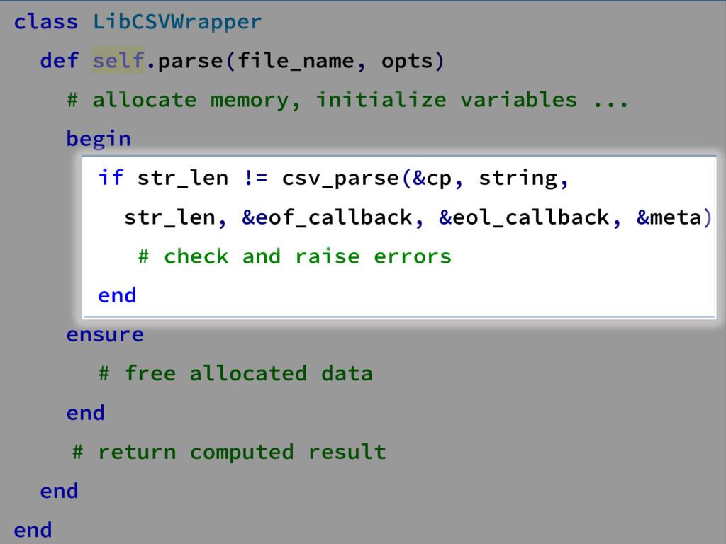 class LibCSVWrapper def self.parse(file_name, o...