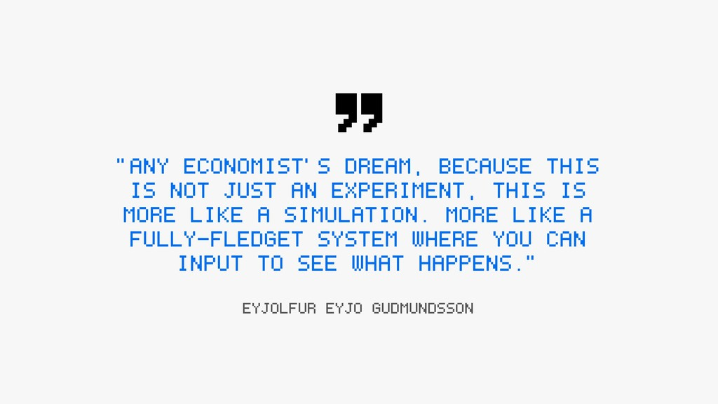 """ANY ECONOMIST'S DREAM, BECAUSE THIS IS NOT JUS..."