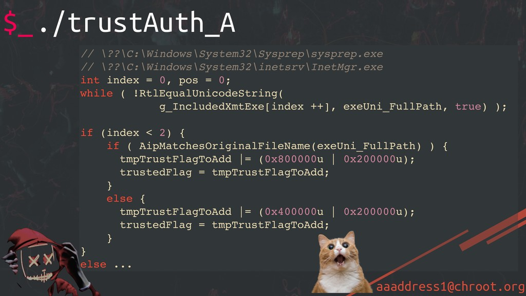 aaaddress1@chroot.org // \??\C:\Windows\System3...