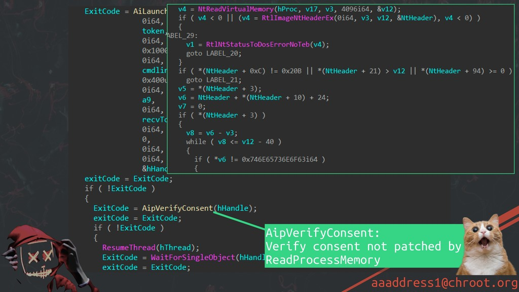 aaaddress1@chroot.org AiLaunchProcess: Create S...