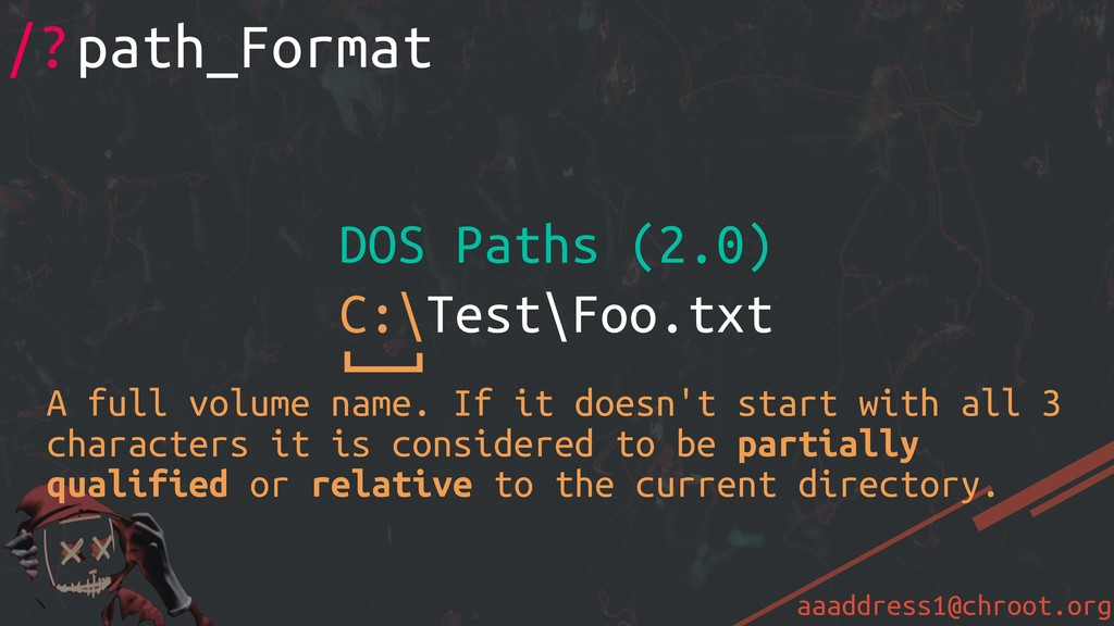 aaaddress1@chroot.org /?path_Format DOS Paths (...