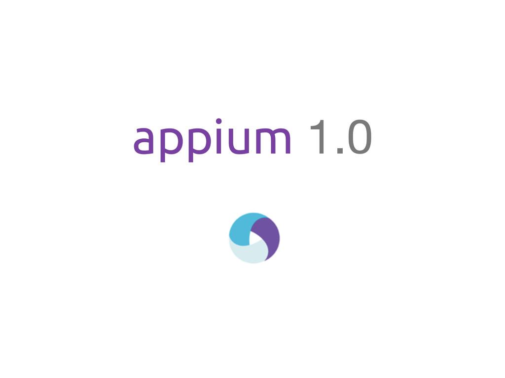 appium 1.0