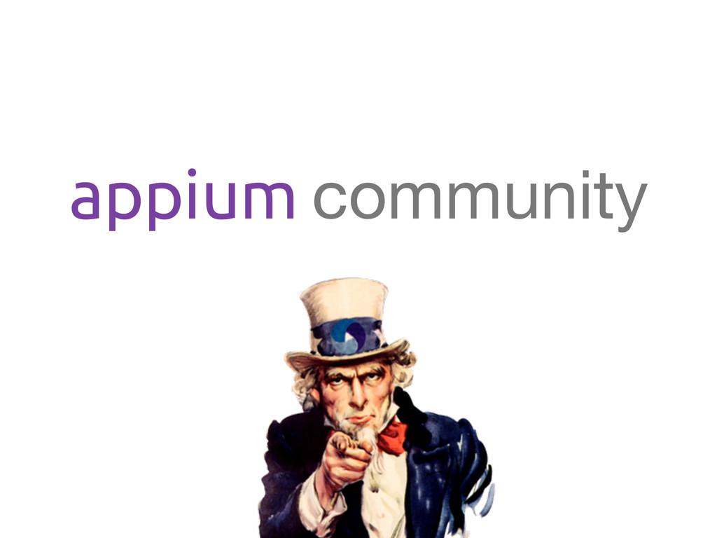 appium community