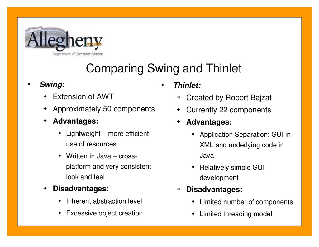Comparing Swing and Thinlet Swing: Extension of...