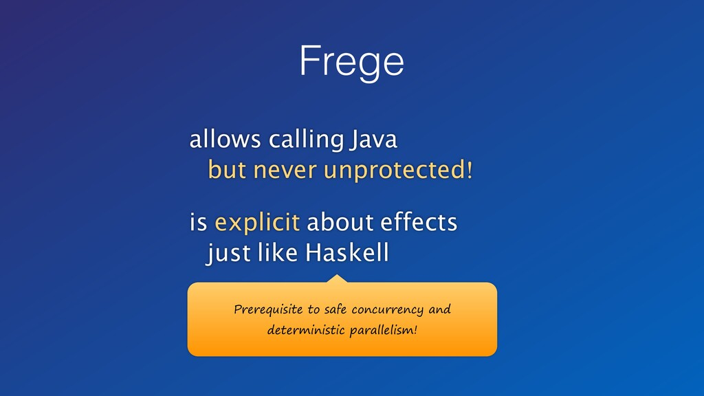 allows calling Java but never unprotected! is e...