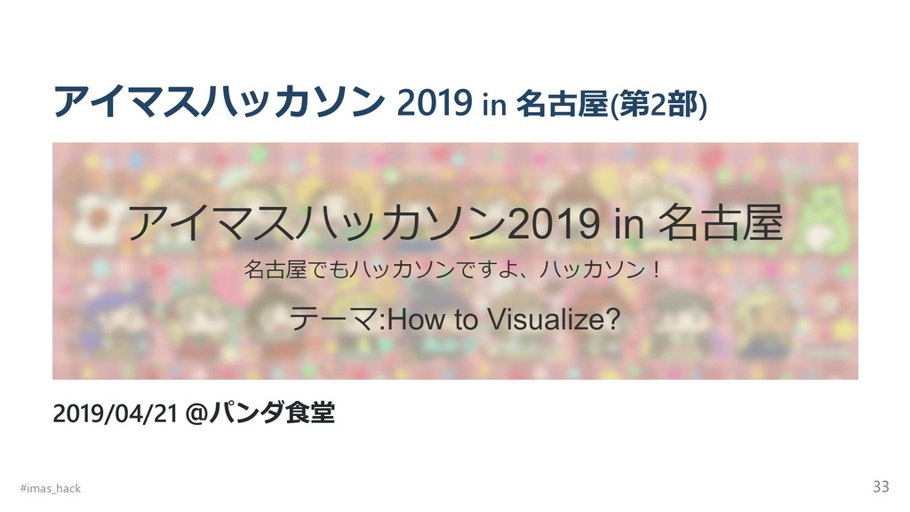 アイマスハッカソン 2019 in 名古屋(第2部) 2019/04/21 @パンダ⾷堂 #i...