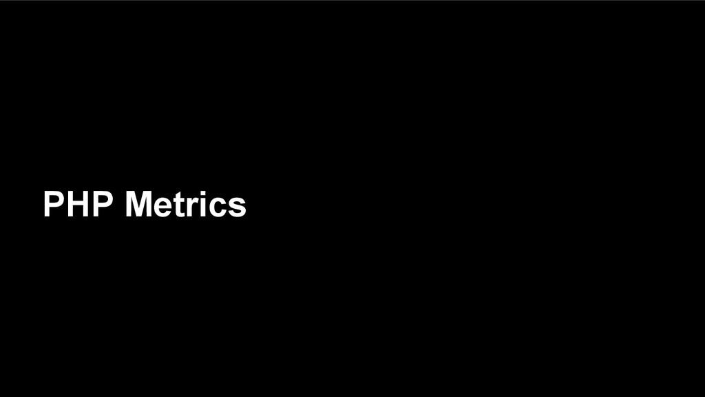 PHP Metrics