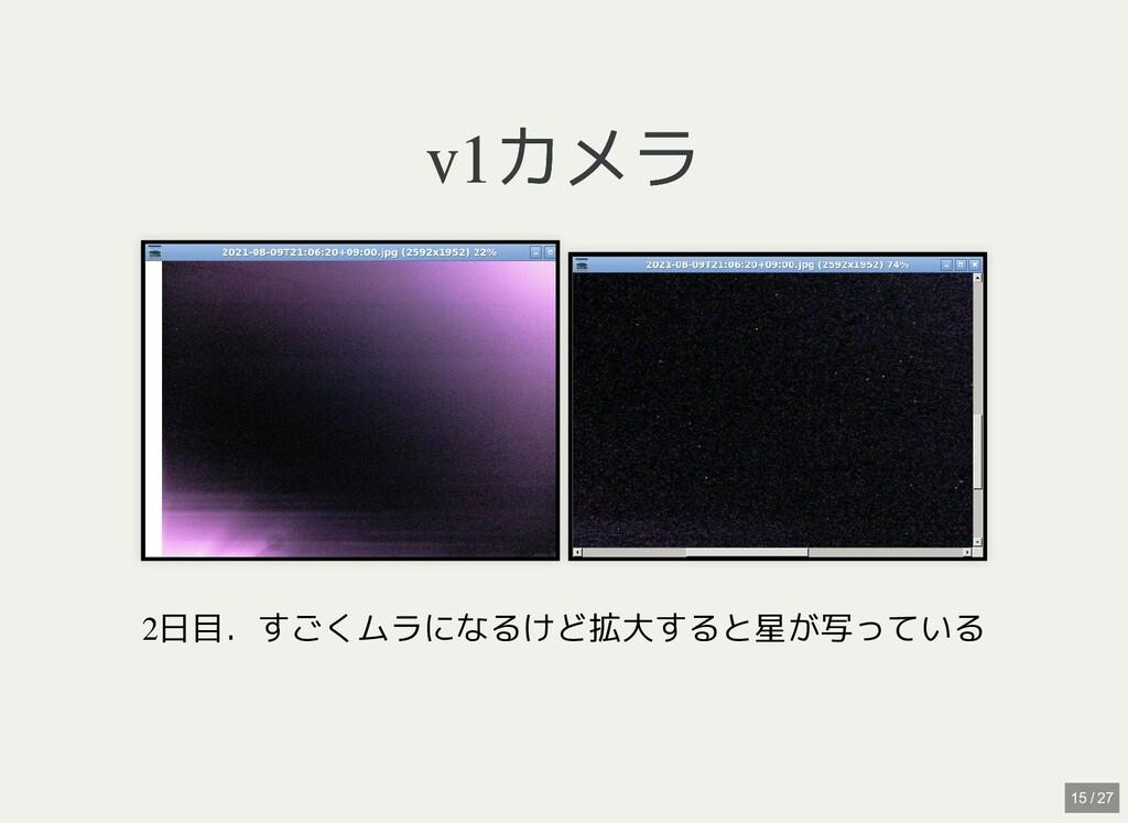 v1カメラ v1カメラ   2日目.すごくムラになるけど拡大すると星が写っている 15 / 27