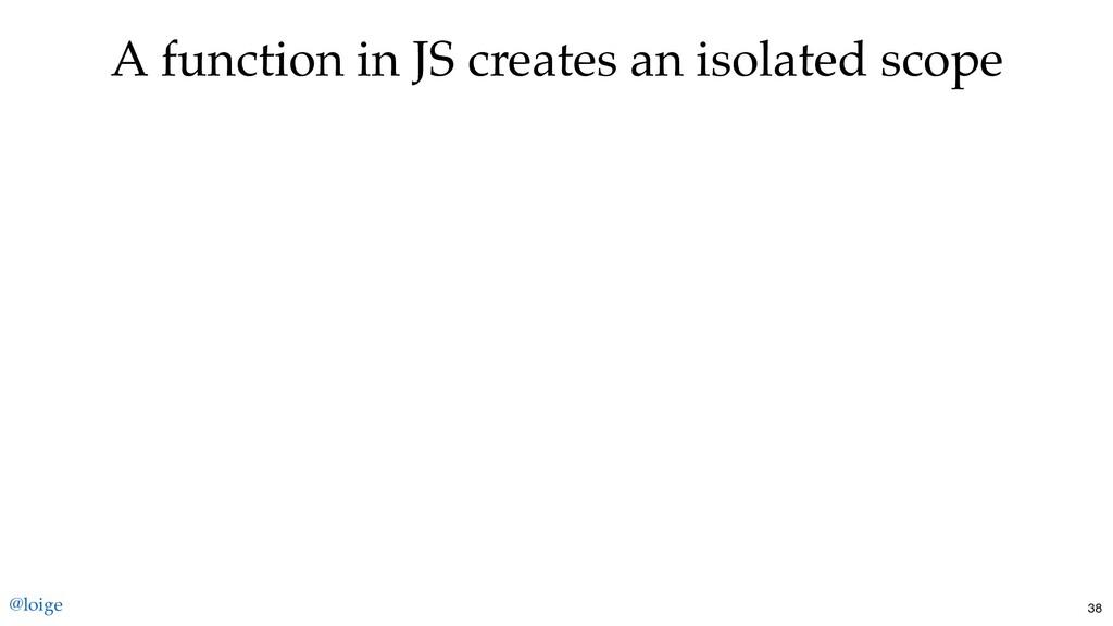 A function in JS creates an isolated scope @loi...
