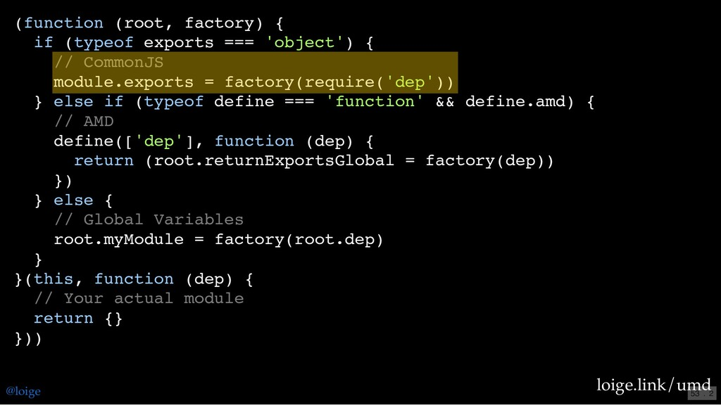 (function (root, factory) { if (typeof exports ...