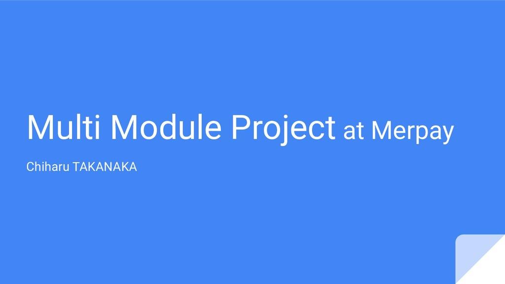 Multi Module Project at Merpay Chiharu TAKANAKA
