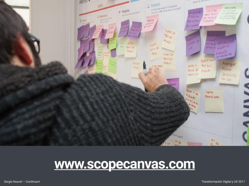 www.scopecanvas.com Transformación Digital y UX...