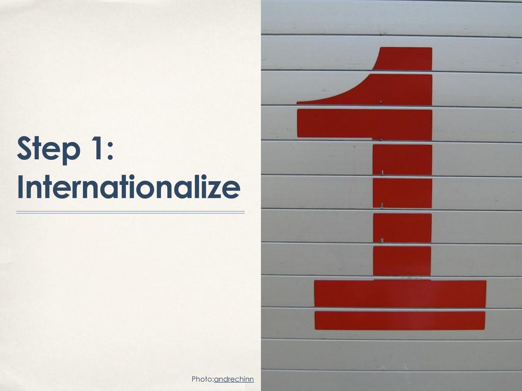 Step 1: Internationalize Photo:andrechinn