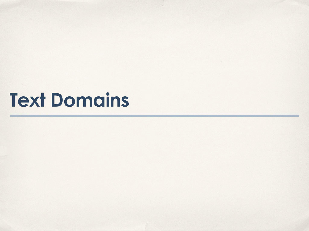 Text Domains