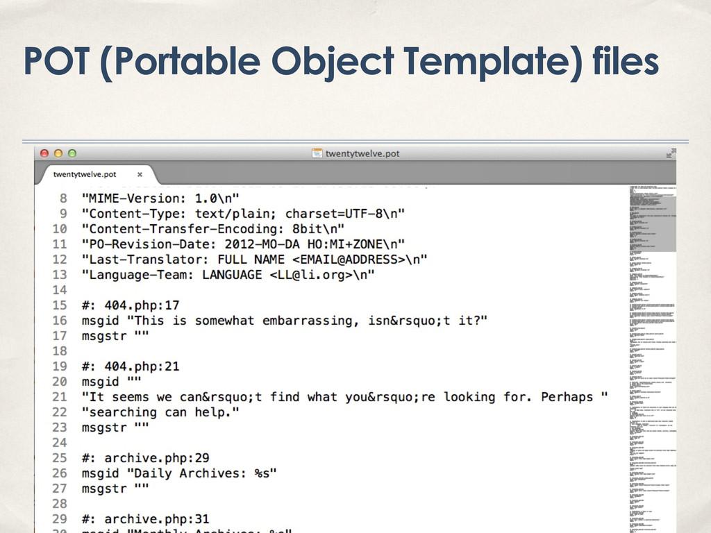 POT (Portable Object Template) files