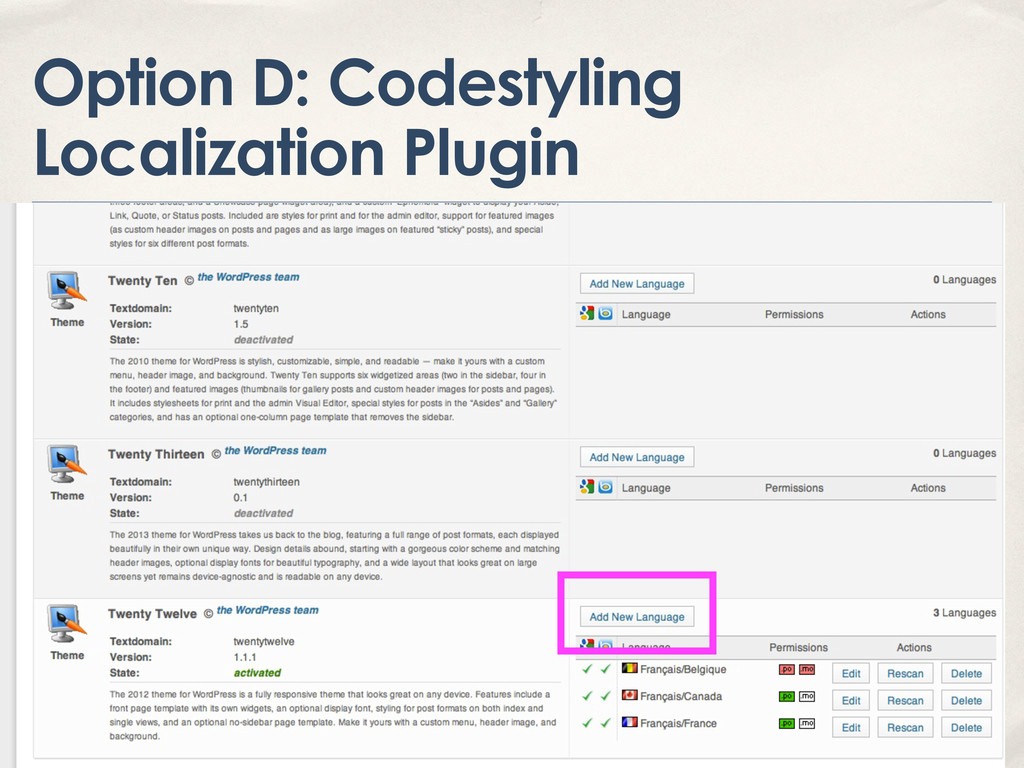 Option D: Codestyling Localization Plugin