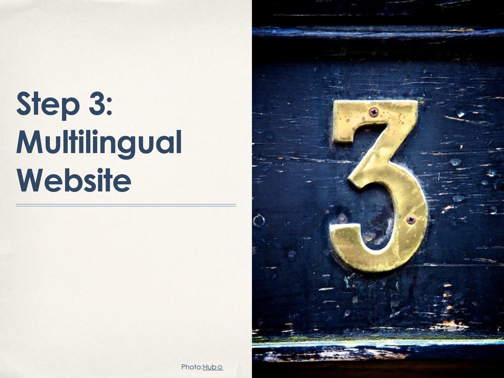 Step 3: Multilingual Website Photo:Hub☺