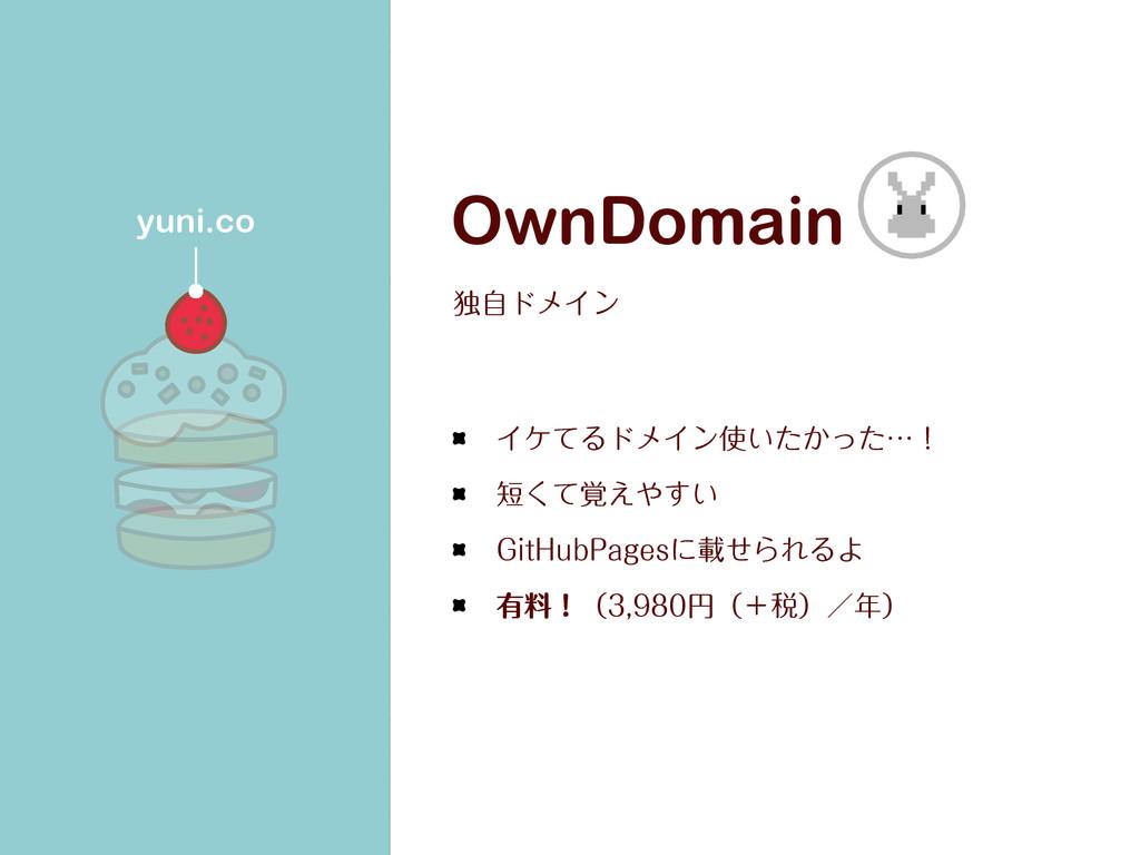 OwnDomain ಠࣗυϝΠϯ ΠέͯΔυϝΠϯ͍͔ͨͬͨʜʂ ͍֮ͯ͑͘͢ (J...