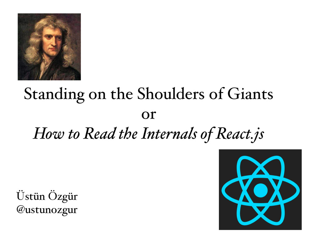 Standing on the Shoulders of Giants or How to R...