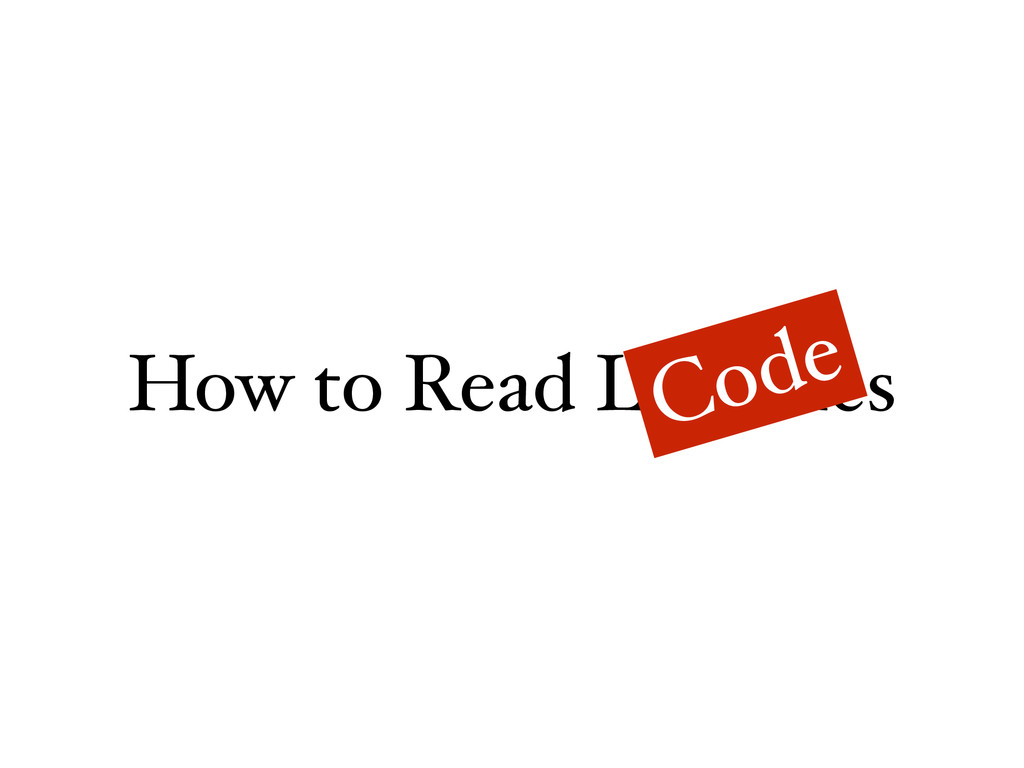 How to Read Libraries Code