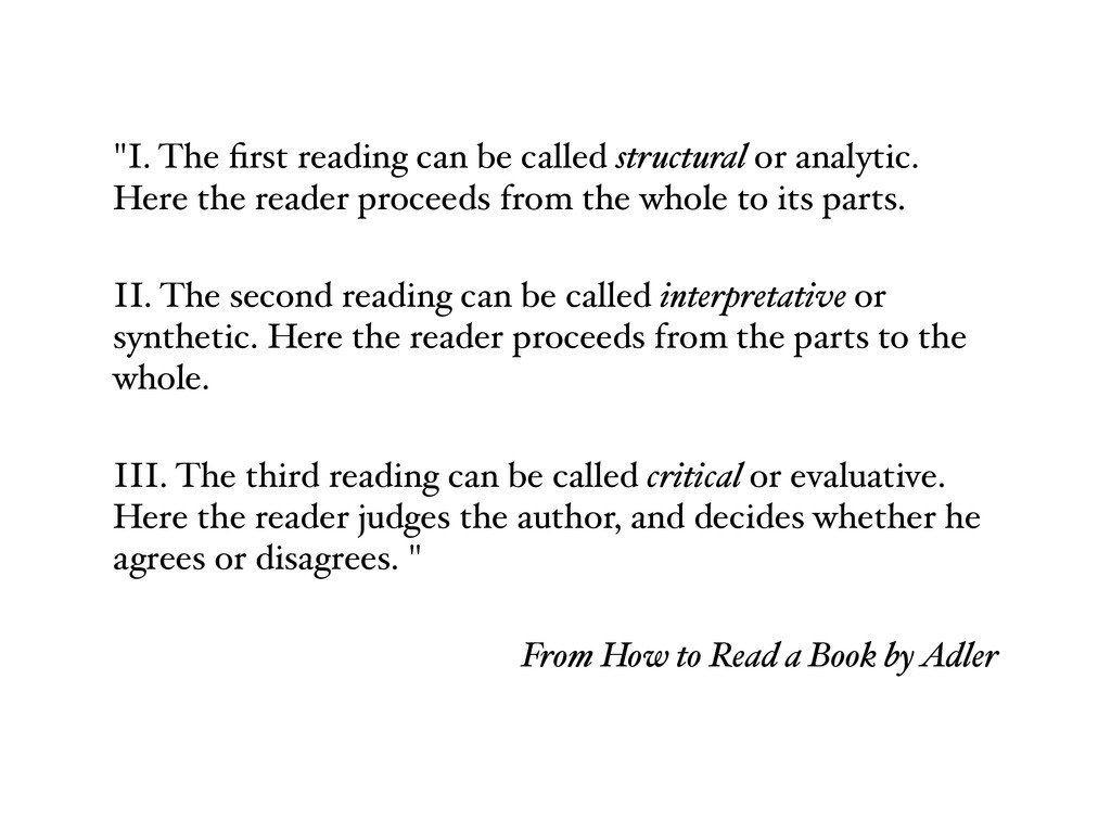 """I. The first reading can be called structural o..."
