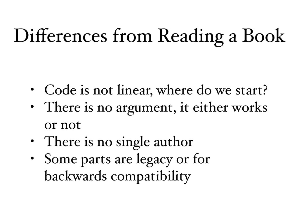 • Code is not linear, where do we start? • Ther...
