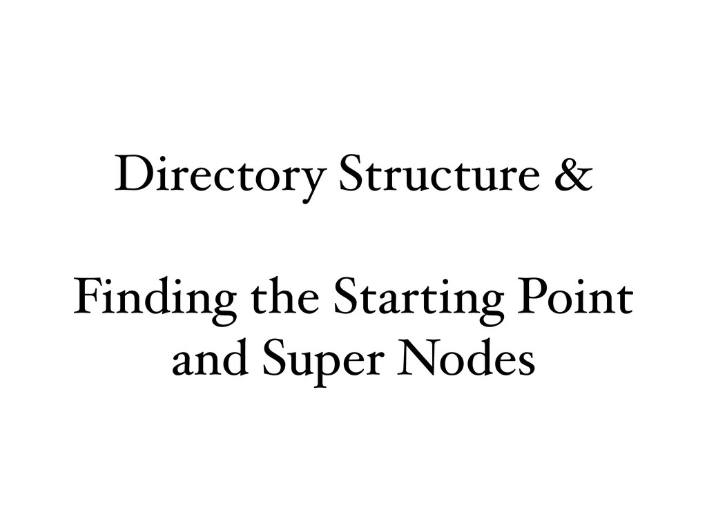 Directory Structure & Finding the Starting Poin...