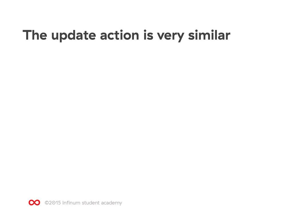 ©2015 Infinum student academy The update action ...