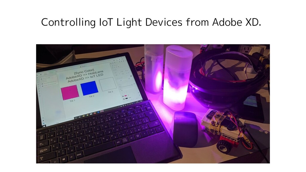 Controlling IoT Light Devices from Adobe XD.
