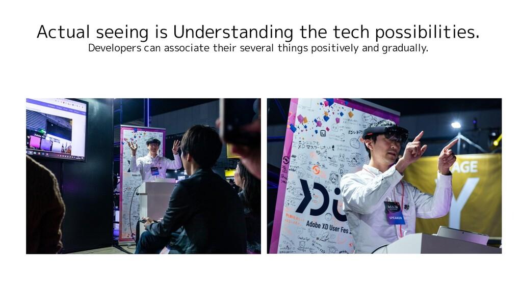 Actual seeing is Understanding the tech possibi...
