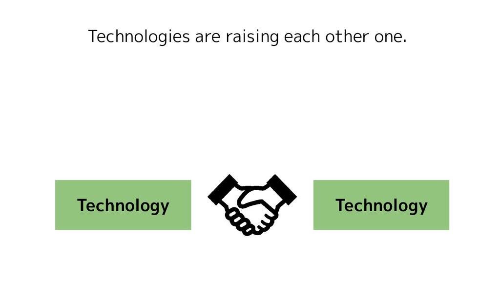 Technologies are raising each other one. Techno...