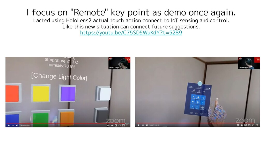 """I focus on """"Remote"""" key point as demo once agai..."""