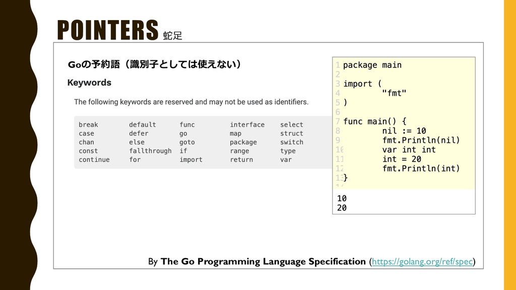 POINTERS By The Go Programming Language Specifi...